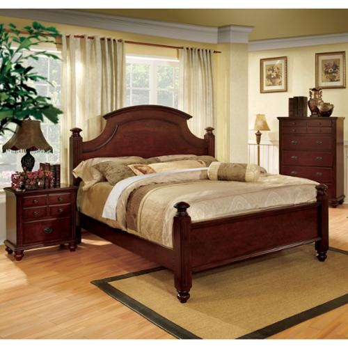 Furniture of America European Style Cherry Four Poster Bed by Overstock