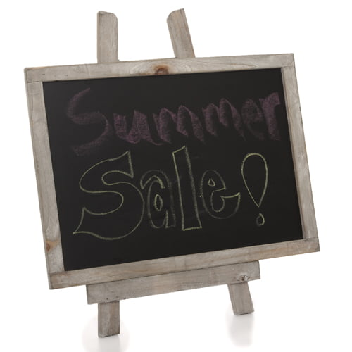 Wooden Chalkboard with Easel Medium 10in by