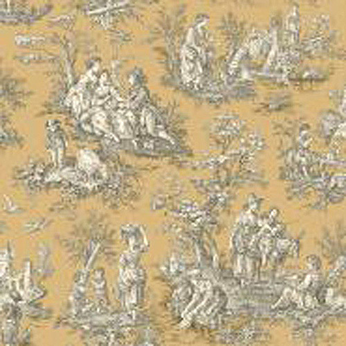 Waverly Classics Country Life Wallpaper, Caramel/Cream/Black