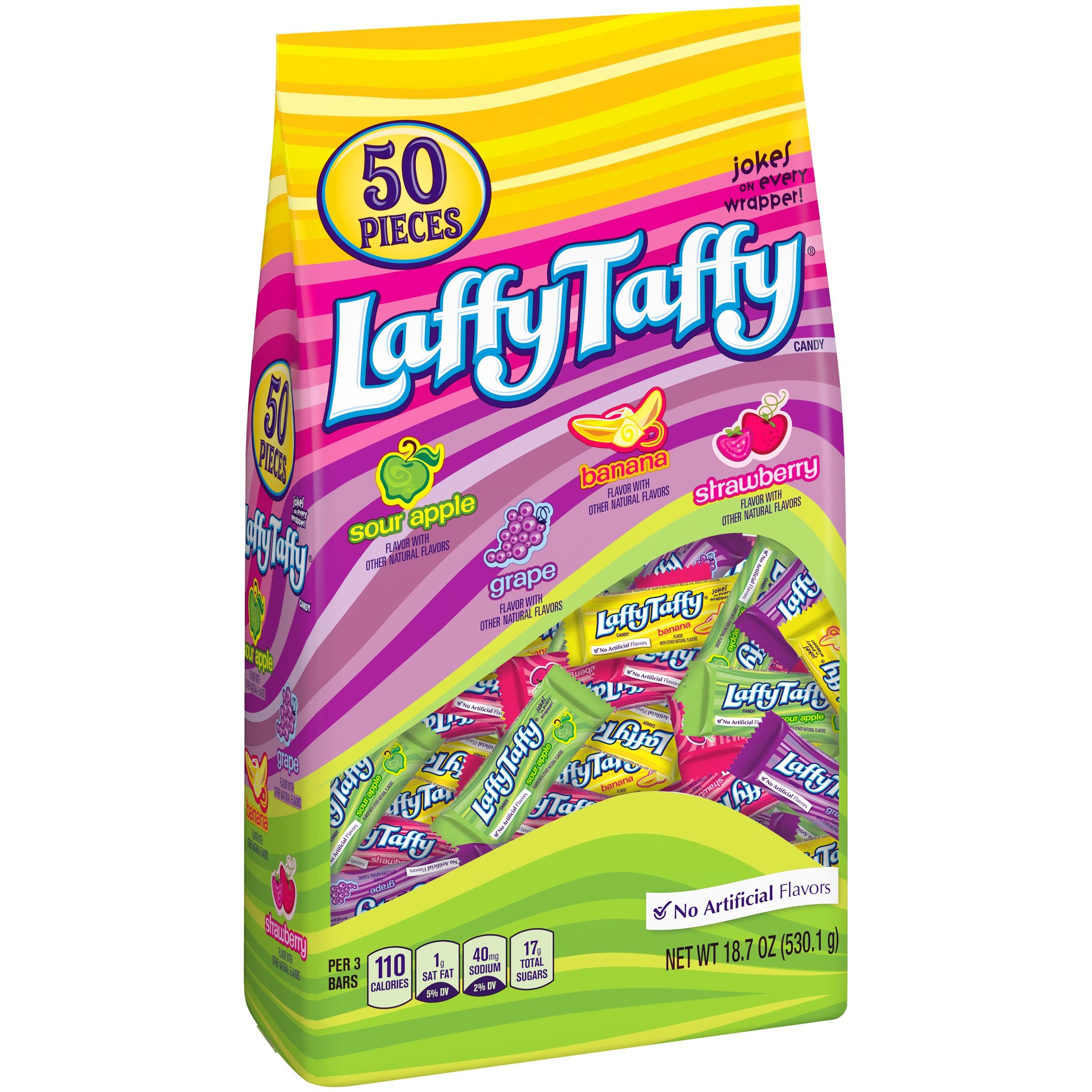 Laffy Taffy Assorted Mini Candy Bars, 18.7 Oz., 50 Count