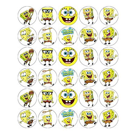 SpongeBob SquarePants Edible Frosting Cupcake Toppers](Orange Frosting For Cupcakes Halloween)