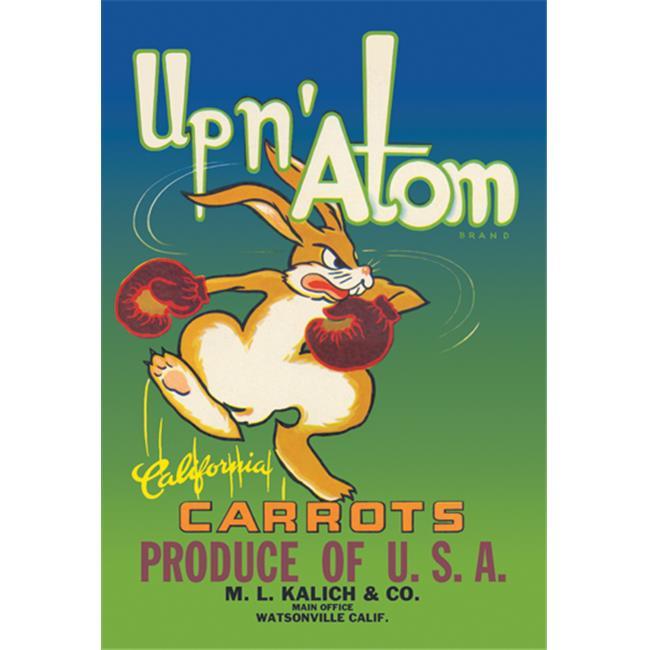 Buy Enlarge 0-587-00360-xP12x18 Up n Atom California Carrots- Paper Size P12x18