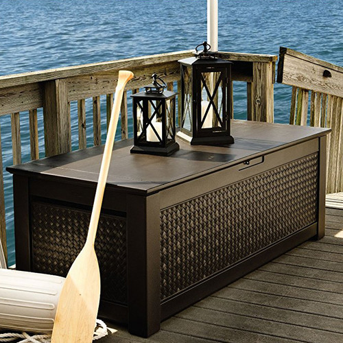 Rubbermaid Patio Chic 136 Gallon Resin Deck Box by