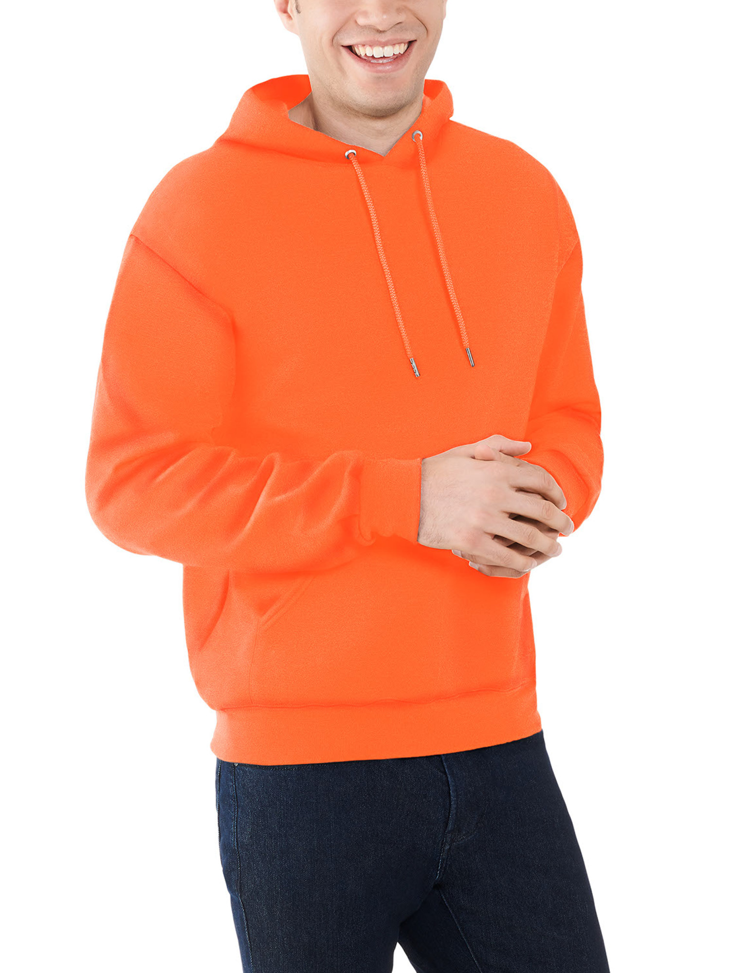 Safety Orange Sweatshirt 3XL Men/'s Hunting NWT Fleece Fruit Of The Loom XXXL