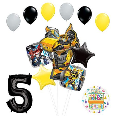 Transformers Mayflower Products Bumblebee 5th Birthday Party Supplies Balloon Bouquet Decorations - Transformer Party Decorations