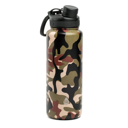 Tal 40 Ounce Double Wall Vacuum Insulated Stainless Steel Ranger Pro Water Bottle, Camo Ladies Stainless Steel Water