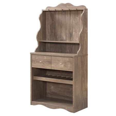 Furniture of America Hazleton Rustic Kitchen Cabinet, (Best American Made Kitchen Cabinets)