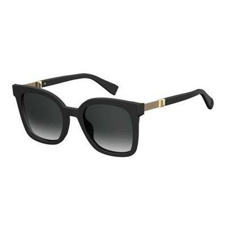 Max Mara Plastic Rectangular Sunglasses 51 0807 Black 9O dark gray gradient (Max Mara Round Sunglasses)