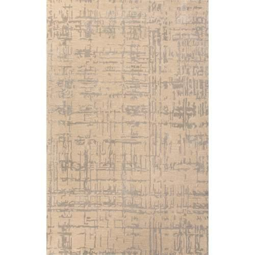 Contemporary Abstract Pattern Taupe/Gray Wool and Art Silk Area Rug (2x3)