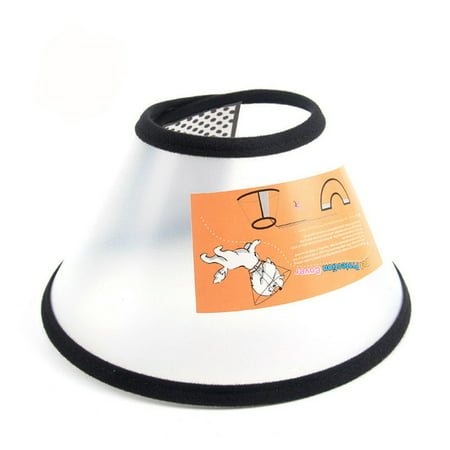 Pet Dogs Cats Cone Protective Collar Wound Healing Protection Cover Size:7# Cat Cone Collar
