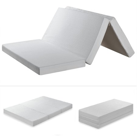 Best Price Mattress 4 Inch Trifold Memory Foam Mattress, Multiple (Best Eco Friendly Mattress)