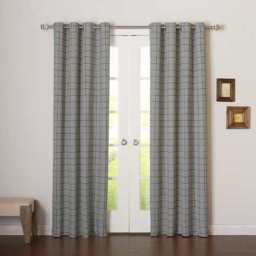 Best Home Fashion, Inc. Two-tone Plaid Room Darkening Curtain Panels (Set of 2)