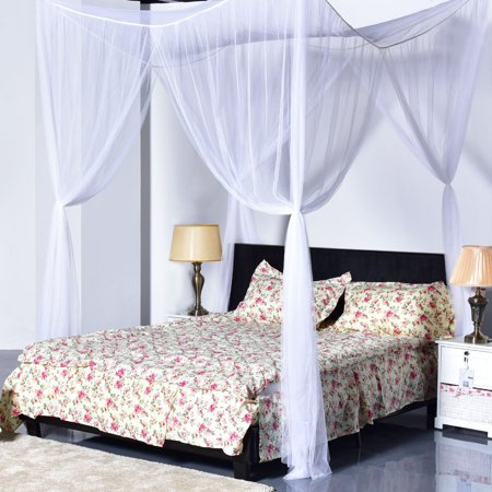 Zimtown 4 Corner Post Canopy Bed Netting Mosquito Net