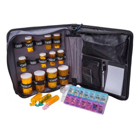 Case It Medical Manager w/Removable Tablet Pocket,