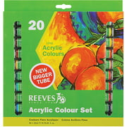 Reeves Acrylic Paints 22ml, Assorted Colors, 20/pkg