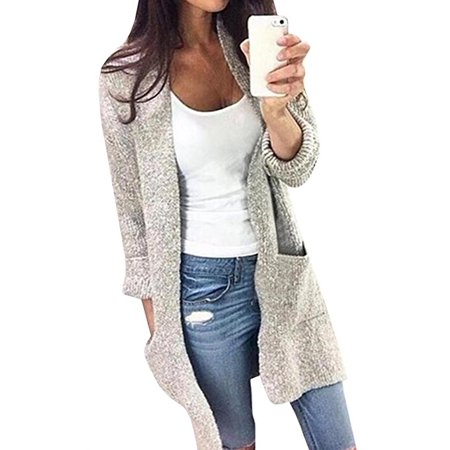 Women's Long Sleeve Solid Color Knitted Sweater - Collar Knitted Sweater