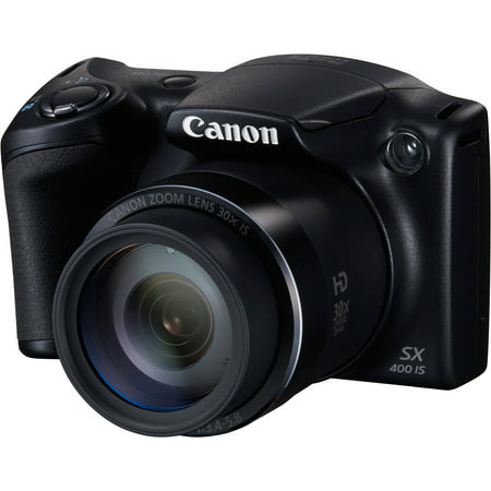 Canon PowerShot SX400 IS - Digital camera - compact - 16.0 MP - 720p - 30 x optical zoom - black