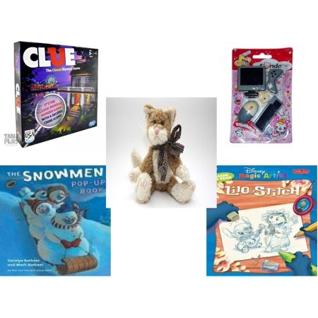 Children's Gift Bundle [5 Piece] -  Clue  - Sunde Computer  Eraser  - Boyd's Bears