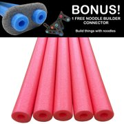 Oodles of Noodles Deluxe Foam Pool Swim Noodles - 5 PACK 52 Inch Wholesale Pricing Bulk
