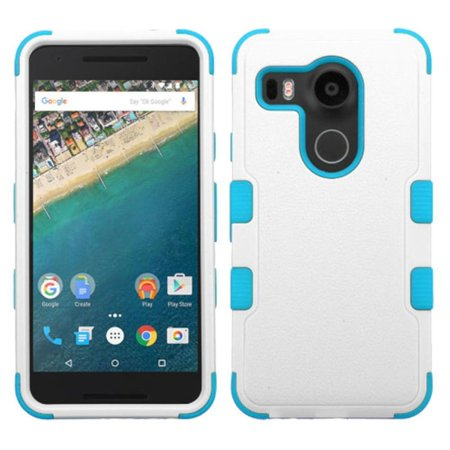 Insten Tuff Hard Dual Layer Rubber Coated Silicone Case For LG Google Nexus 5X - (Best Lg Nexus 5x Case)