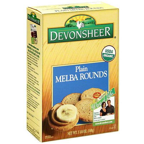 Devonsheer Plain Melba Rounds, 5.25 oz (Pack of 12)