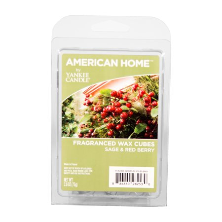 American Home by Yankee Candle Sage & Red Berry, 2.6-Ounce Fragranced Wax Cubes (Yankee Candles Wax Melts)