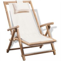 OTVIAP Outdoor Deck Chair Bamboo