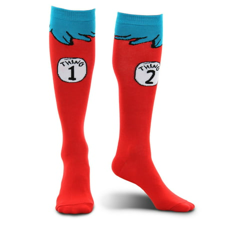 Dr. Seuss Thing 1 and 2 Kids Socks - Thing One Thing Two