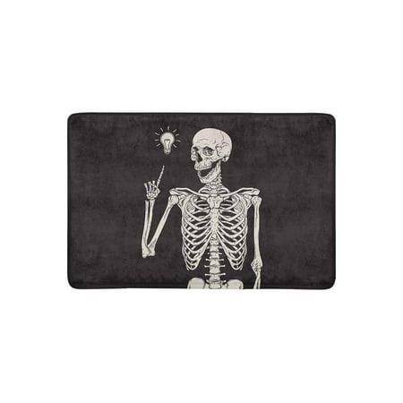MKHERT Hipster Human Skeleton Has an Idea Doormat Rug Home Decor Floor Mat Bath Mat 23.6x15.7 inch](Welcome Home Baby Ideas)