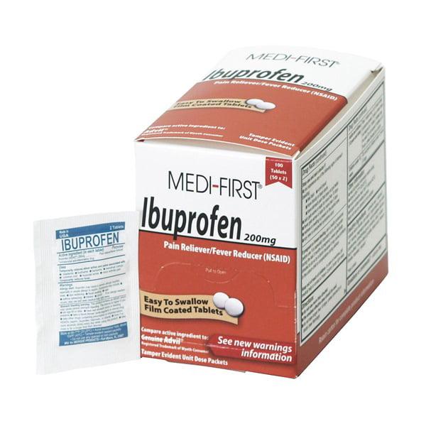 Ibuprofen, Tablets, PK 100