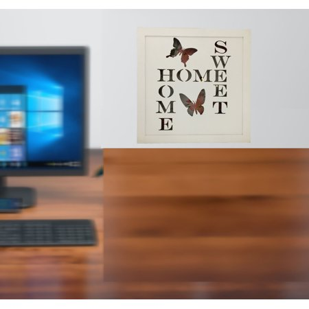 Lighted Sign with Battery-Operated Home Sweet Home Lighted Sign with Remote Control; Product Size: 15.75 x 15.75 x 1.5. Turn light on/off with a remote button. Hanging to desk top for any room