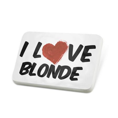 Porcelein Pin I Love Blonde Beer Lapel Badge – NEONBLOND