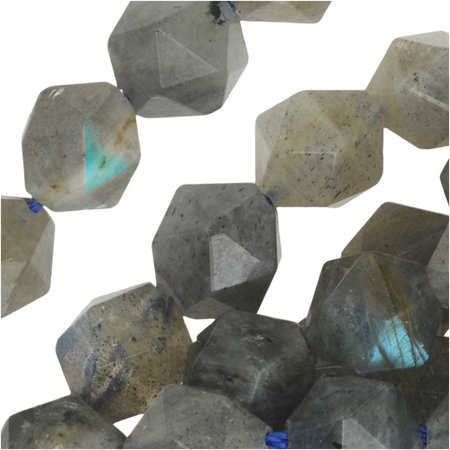 Dakota Stones Gemstone Beads, Labradorite, Star Cut Faceted Round 8mm, 14.75 Inch Strand