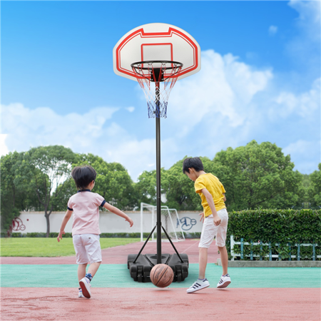 Yaheetech Height Adjustable Basketball Hoop System Portable Kids Junior Indoor Outdoor Net Goal Stand 29 Inch Backboard