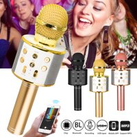 Wireless Bluetooth Karaoke Microphone for Kids, EEEkit Kids Karaoke Machine Portable Handheld Mic Speaker Toy Home Party Birthday Graduation for iPhone Android iPad PC All Smartphone