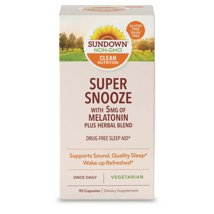 Sleep Aids: Sundown Naturals Super Snooze Melatonin