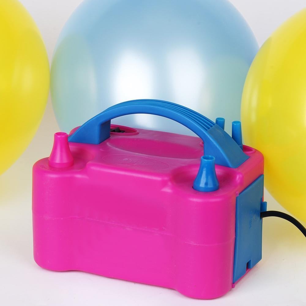 BalsaCircle Portable Electric Air Balloon Pump with Double Nozzle - Party Wedding Event Graduation Decorating Supplies