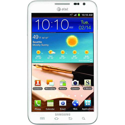 Samsung Galaxy Note I717 GSM Phone, White (Unlocked)