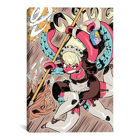 "Octomaid Artwork | Choose from Canvas or Art Print | Living Room, Bedroom, Office, Bathroom Wall Decor Art Ready to Hang Para El Hogar Decoracion | 48"" x 32"" - Decoracion Halloween Para Jardin"