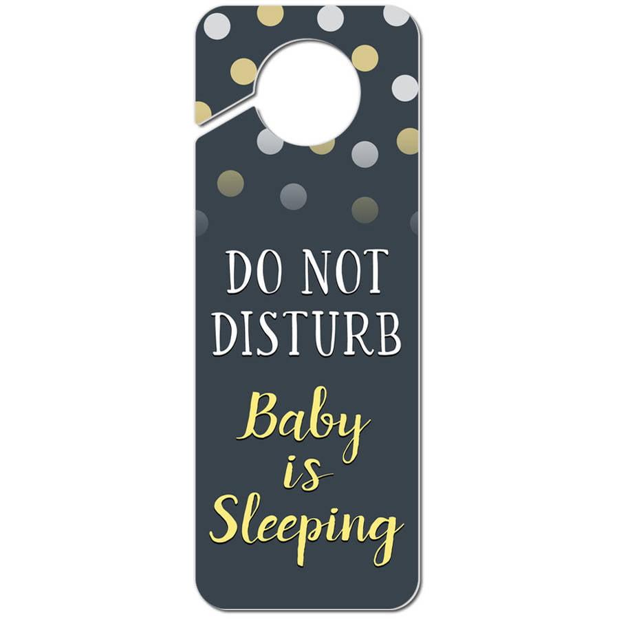 Do Not Disturb Baby is Sleeping Yellow Plastic Door Knob ...