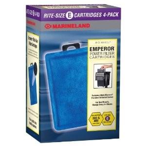 Marineland Emperor Rite-Size Power Filter Cartridge E, 4-Pack