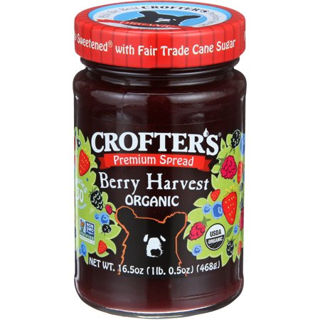 Crofters Organic Premium Fruit Spread, Berry Harvest, 16.5