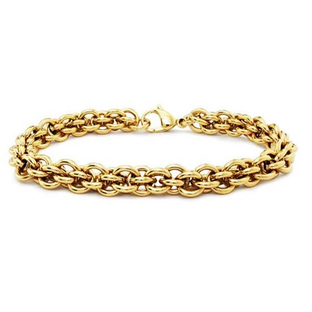 f5fcb988301 Gold Plated Stainless Steel Womens Bracelet