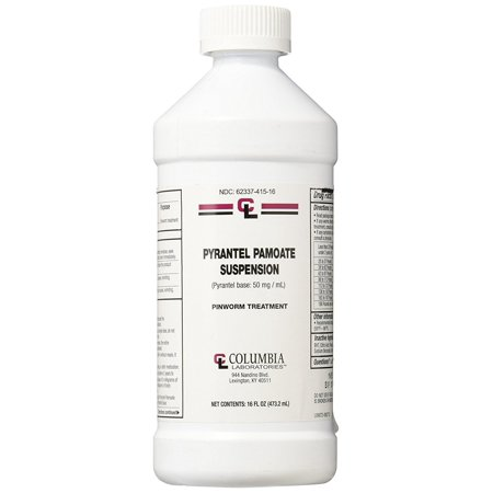 Pyrantel Pamoate Suspension 50 mg 16 oz bottle by