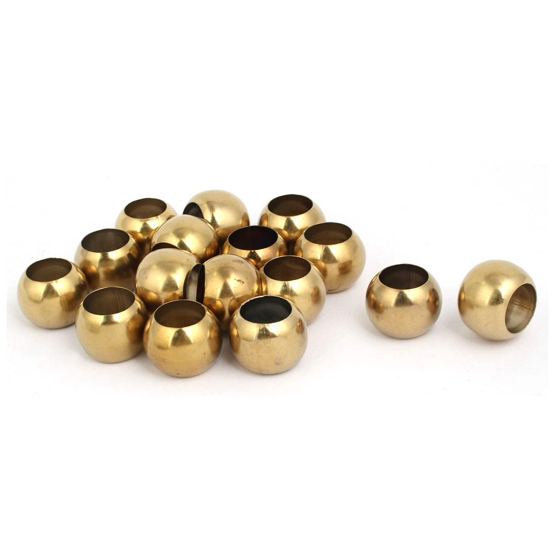 32mmx18.5mm 201 Stainless Steel Hollow Ball Gold Tone 16pcs for Handrail Stair