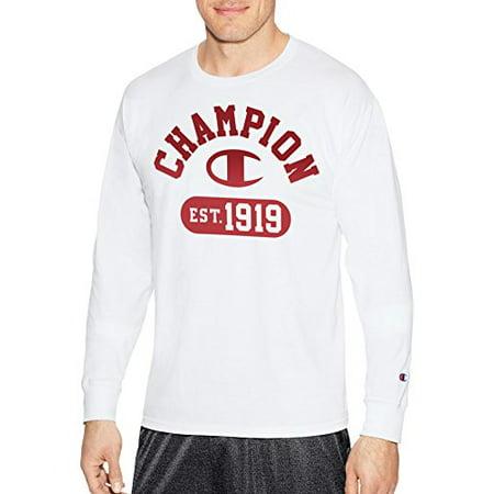 f93261ce Champion Men's Athletic - Champion Men's Classic Jersey Long Sleeve Graphic  T-Shirt, Gym Fade V2/White, - Walmart.com