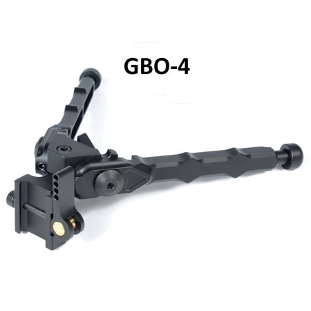 (GBO - 4) Bolt Action Rifle Bipod Black Tactical Bipod 5.3 Inches