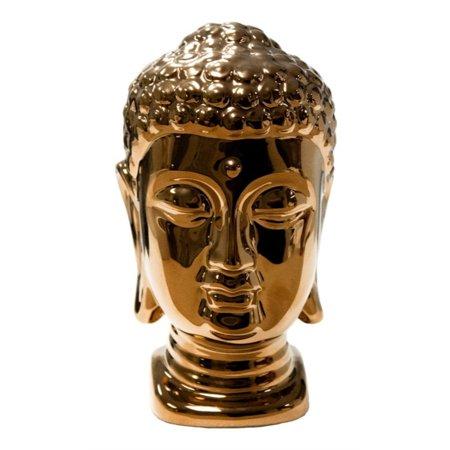(Benzara Copper Ceramic Buddha Head Statue)