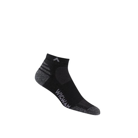 - WigWam Merino Lite Quarter Black Men's Socks F2427-052