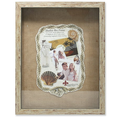 11x14 Weathered Natural Front Hinged Shadow Box Frame